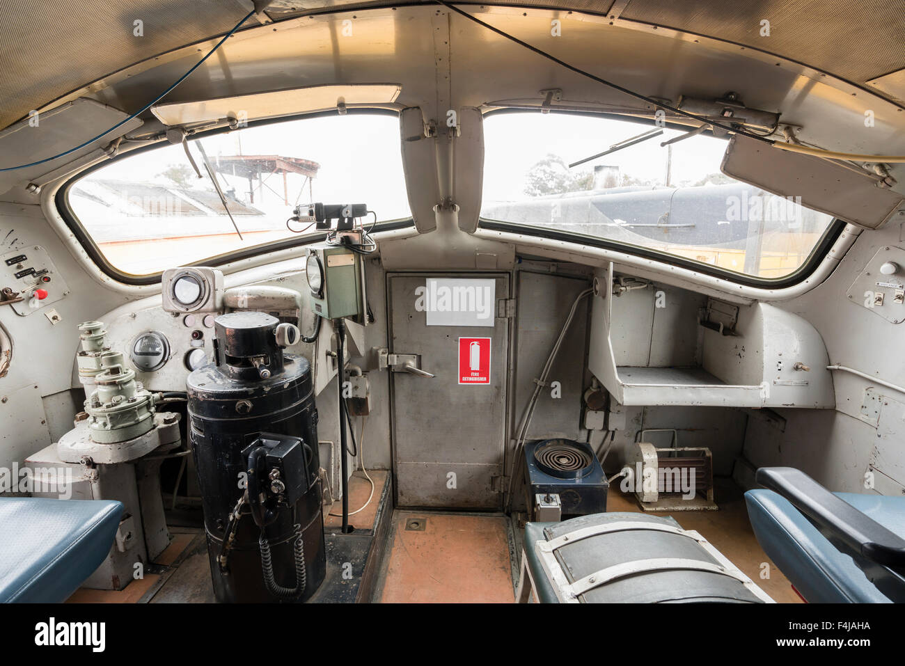 driver cabin of a diesel locomotive stock photo 88913926 alamy. Black Bedroom Furniture Sets. Home Design Ideas