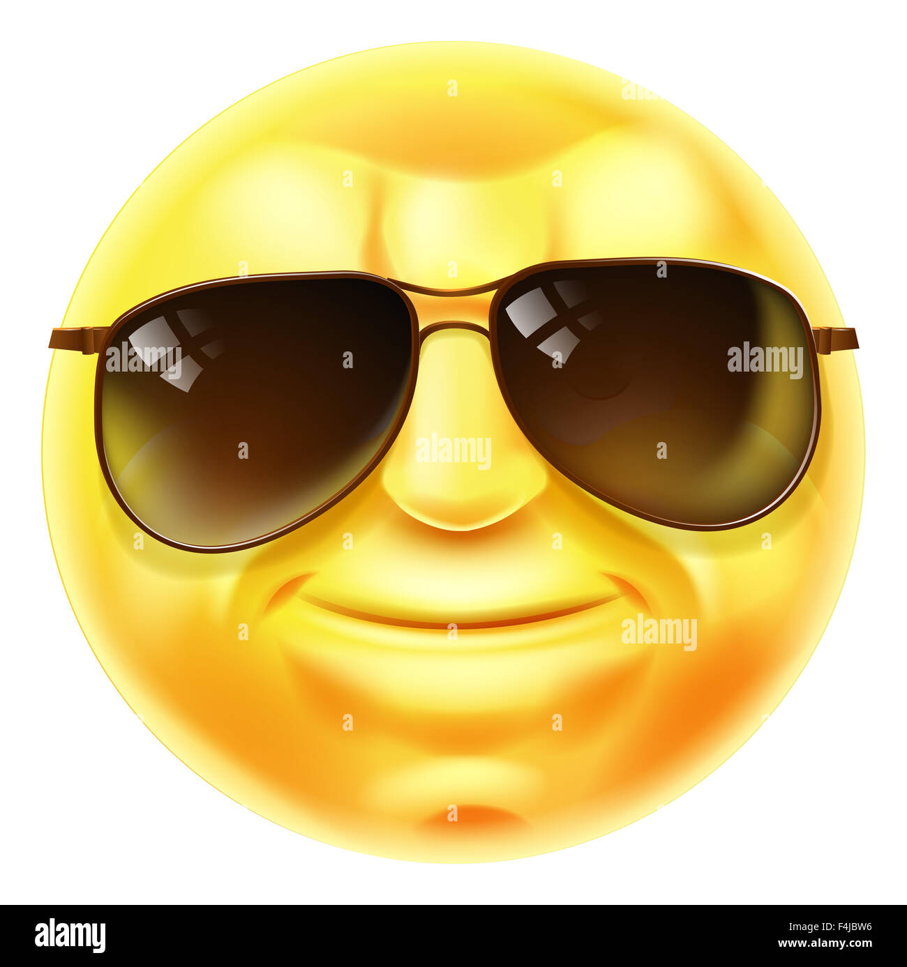 a cool looking emoji emoticon smiley face character with sunglasses on