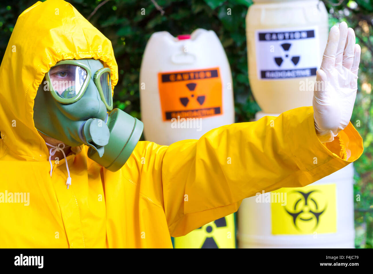Risk of radiation - Stock Image