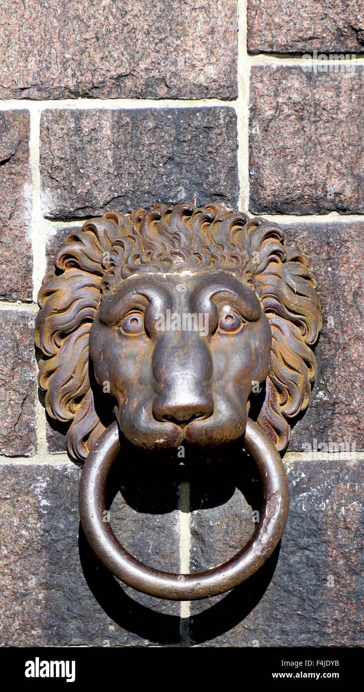 Lion Door Handle At Cityhall In Stockholm, Sweden