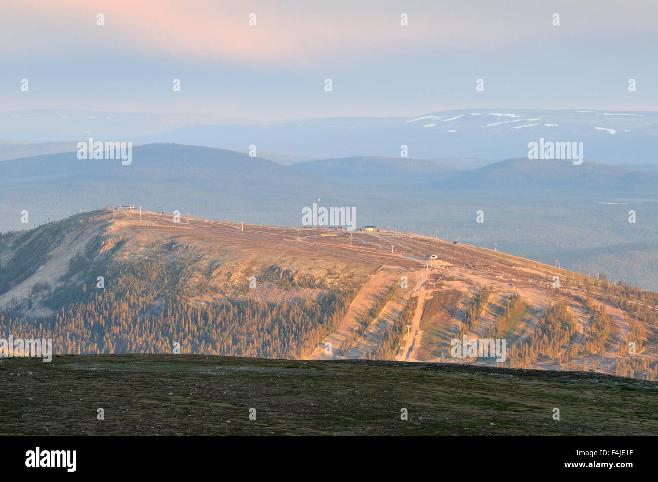 color image Dalarna holiday horizontal mountain Scandinavia Scandinavian mountain summer Sweden tourism tourist - Stock Image