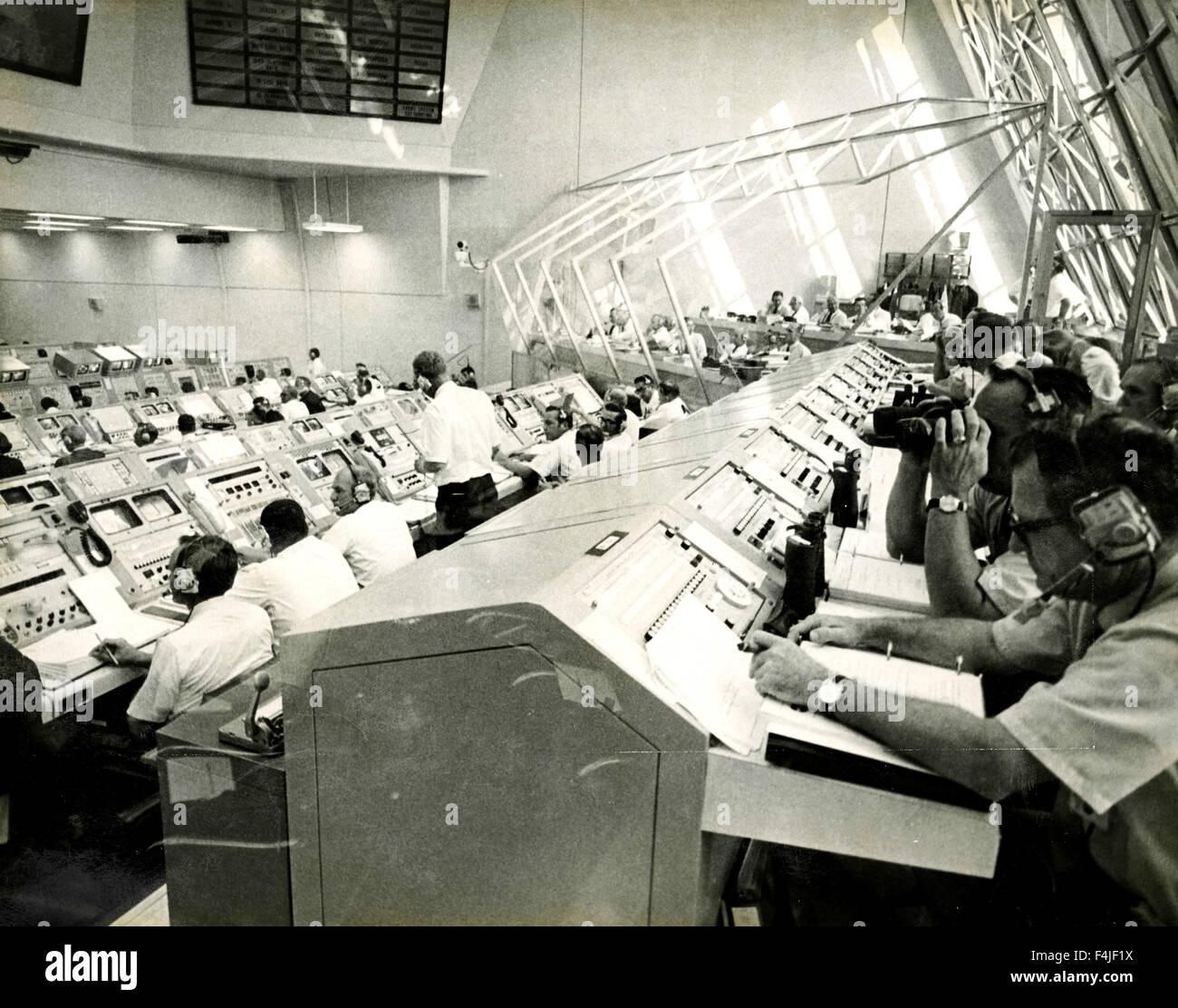 Apollo space mission control center - Stock Image