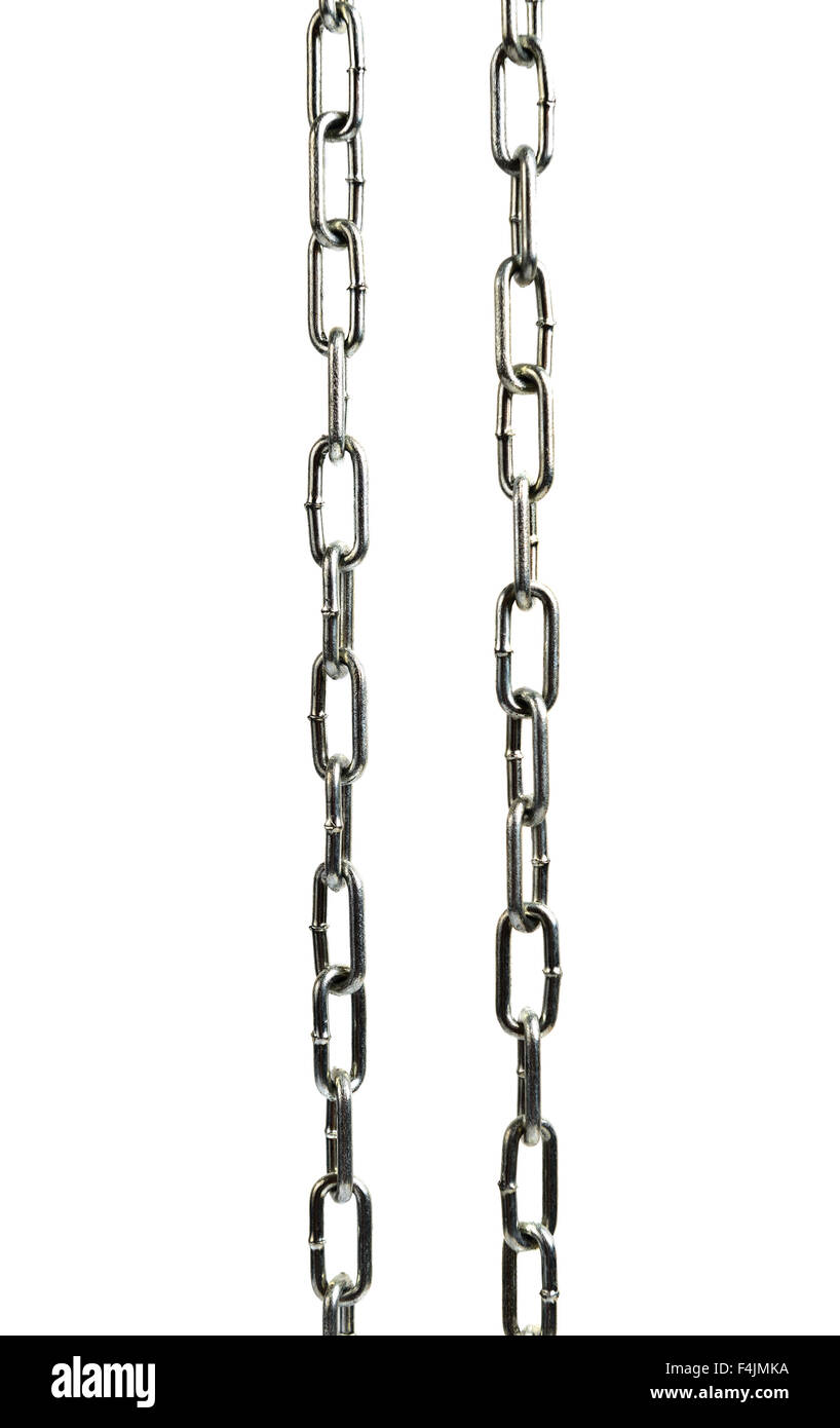 Metal chain isolated on white - Stock Image