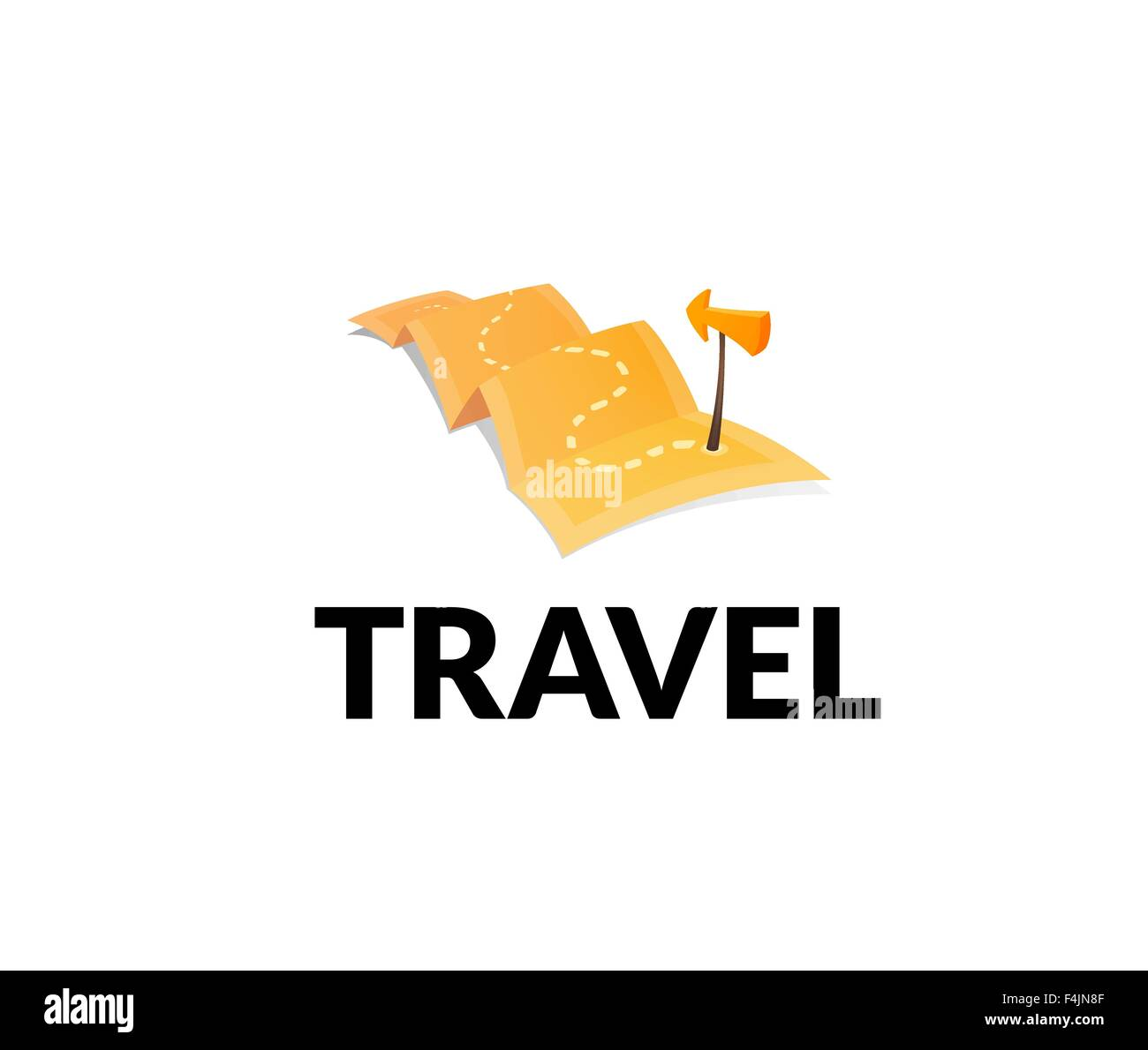 World Tour Concept Logo Isolated On White Background Long Route In Travel Map With Guide Marker
