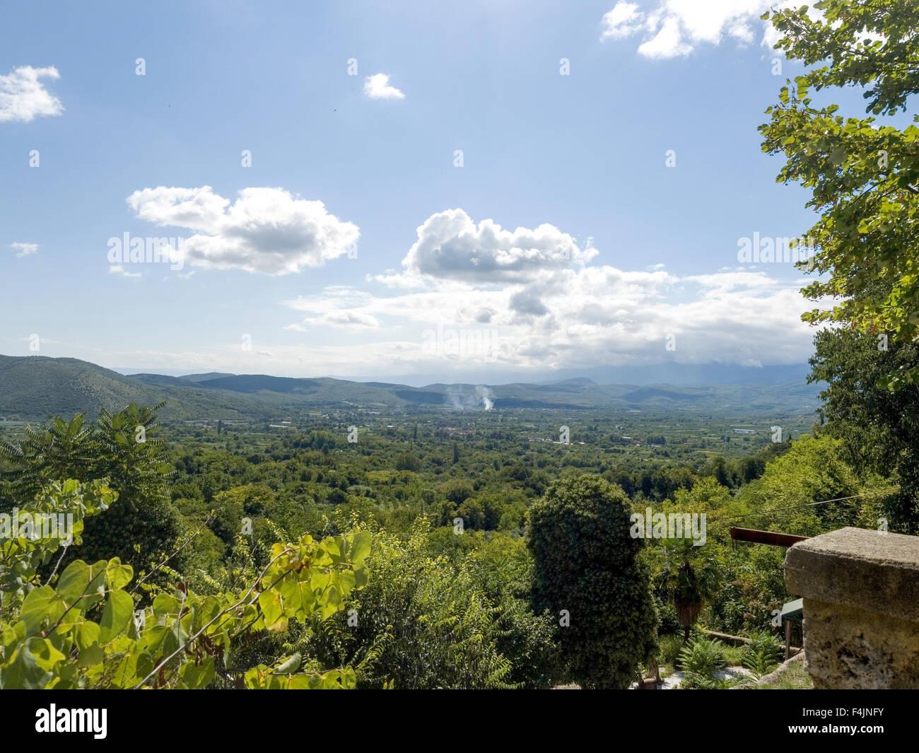 Macedonia landscape near Edessa, Greece - Stock Image