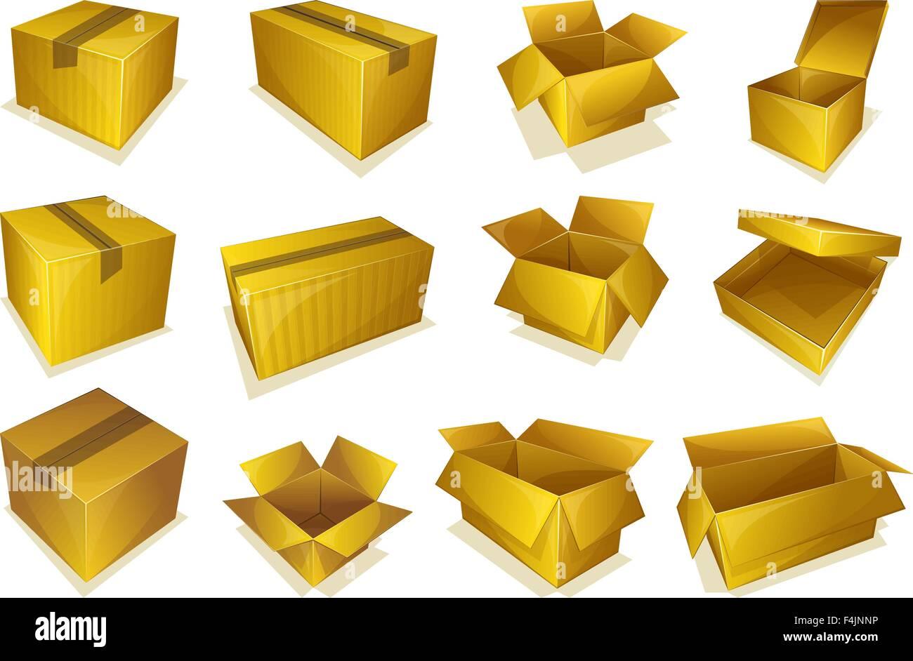 Cardboard parcel icon - Stock Vector