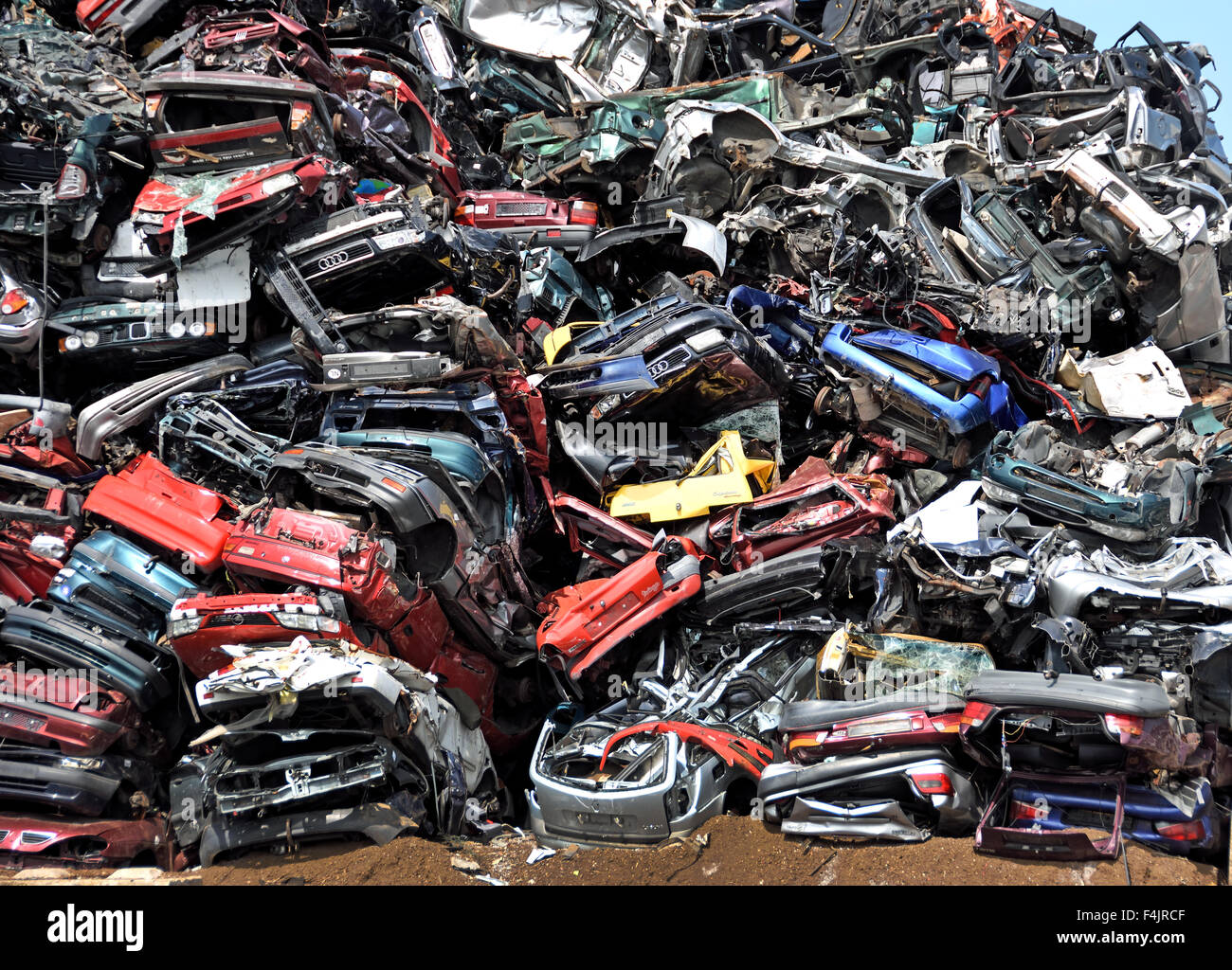Car breakers Car scrap yard Scrap Yard Zaandam, Netherlands Stock ...