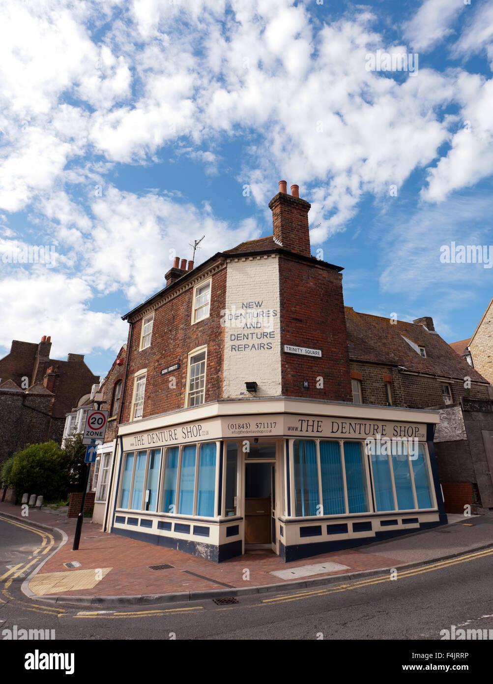 The Denture Shop,  35 King Street , Margate , Kent. - Stock Image