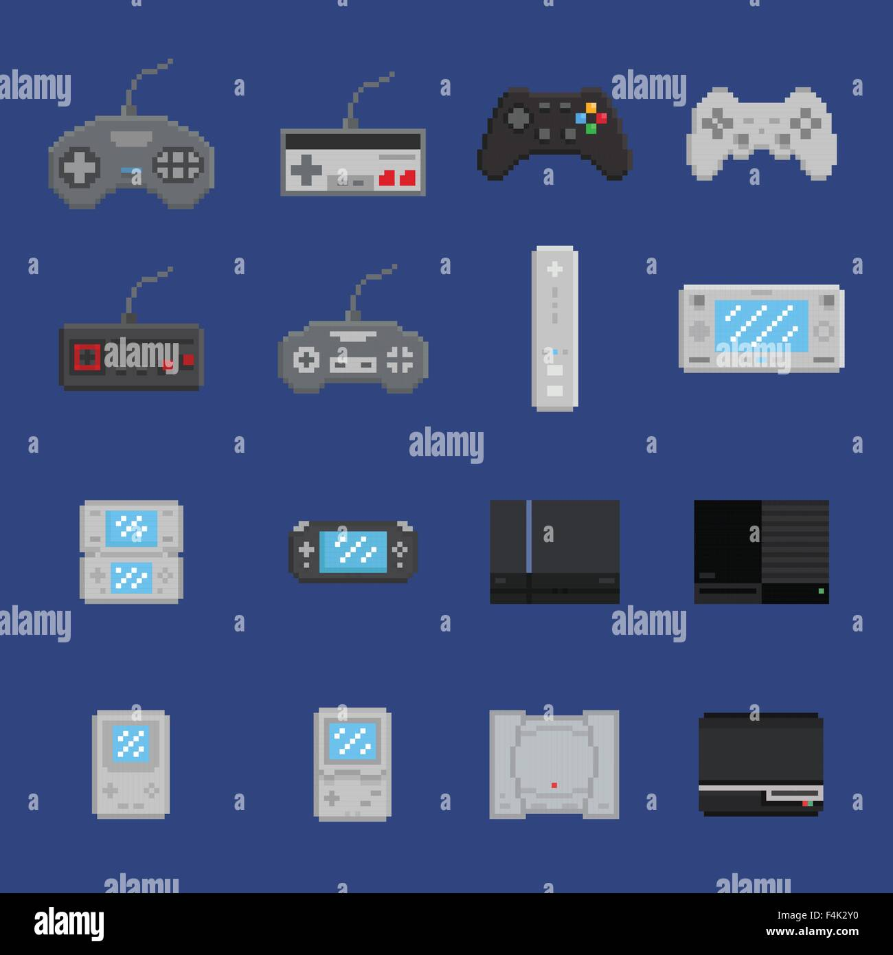 Pixel Art Game Design Icon Set