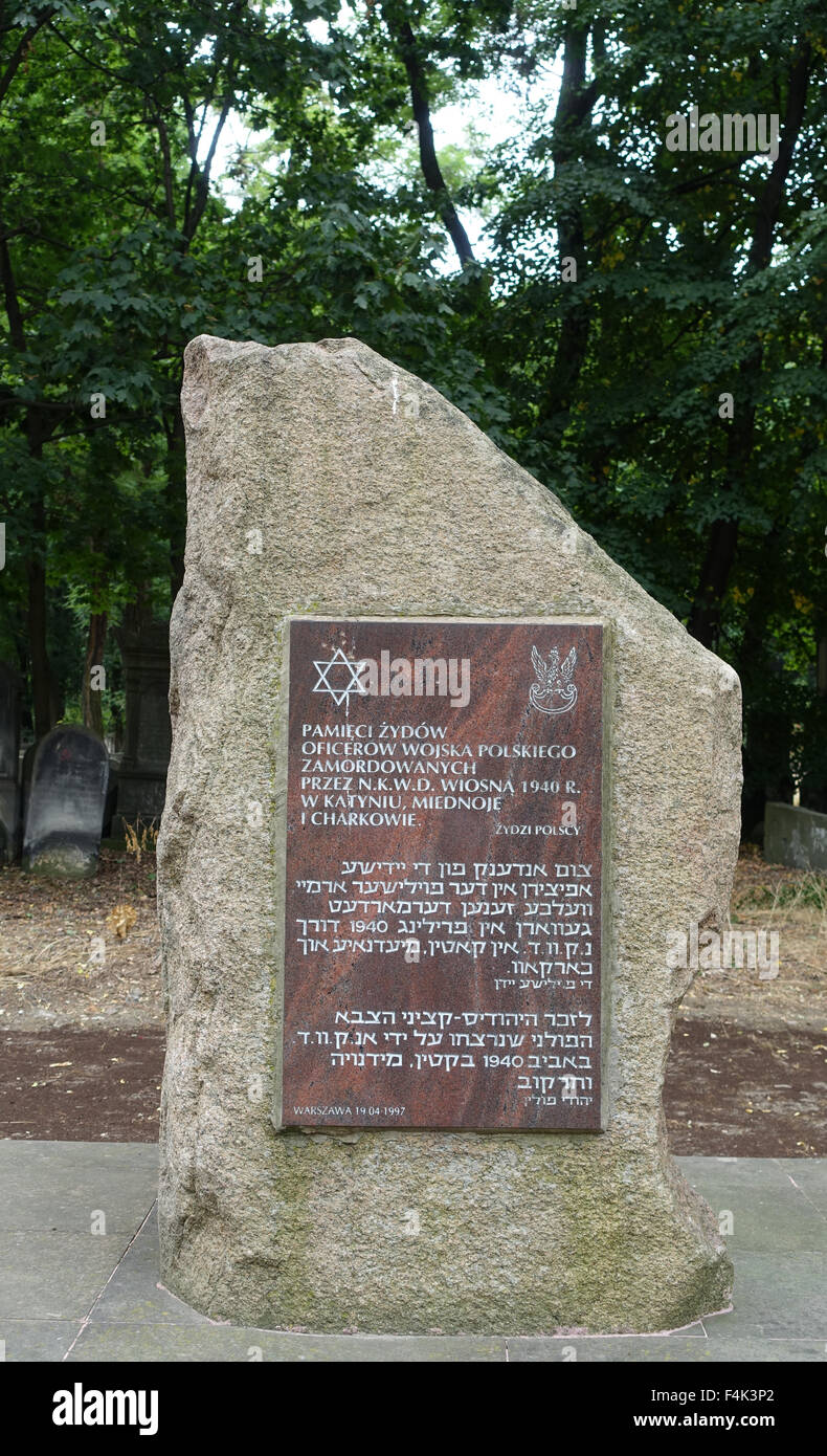 Jewish Cemetery Warsaw Poland - Stock Image