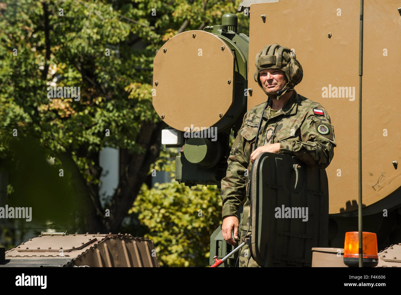 A soldier of the Polish Military attends the Armed Forces Day in Warsaw - Stock Image