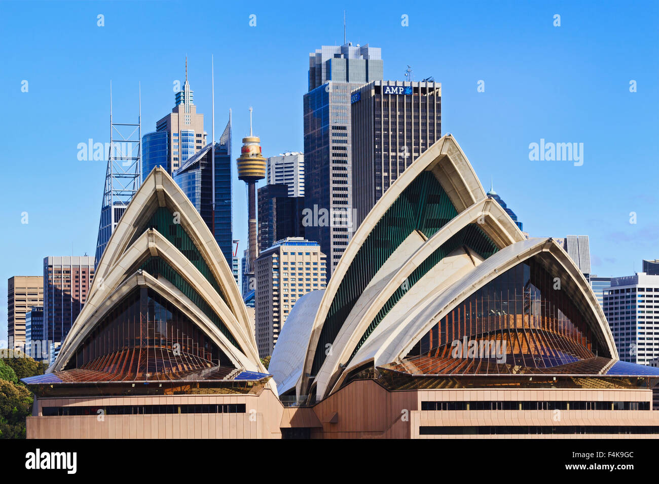 SYDNEY - May 10, 2015: The Sydney Opera House, viewed from Harbour in Sydney, Australia on May 10, 2015. Stock Photo