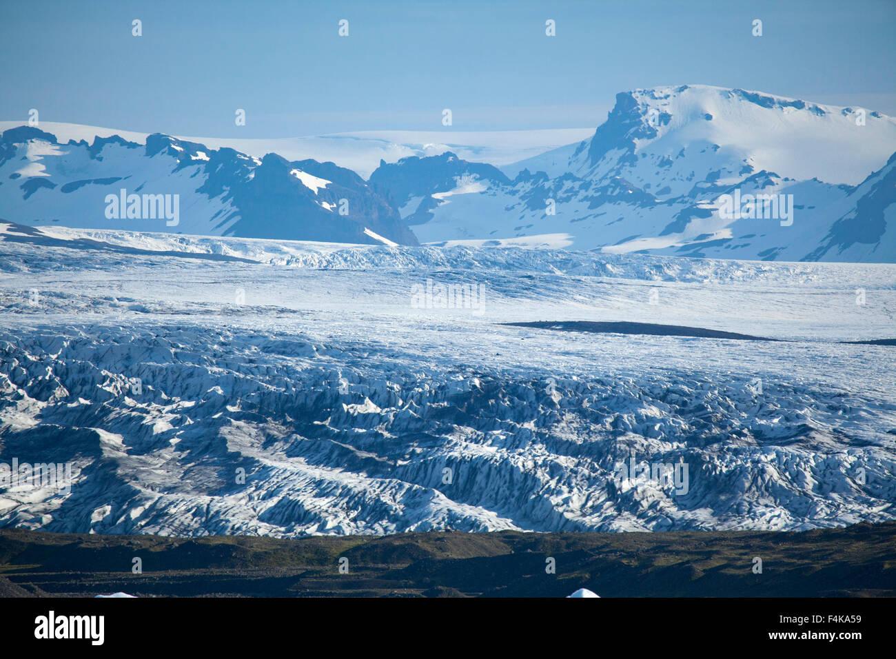 Fjallsjokull glacier, an offshoot of the Vatnajokull ice cap. Vatnajokull National Park, Sudhurland, Iceland. - Stock Image