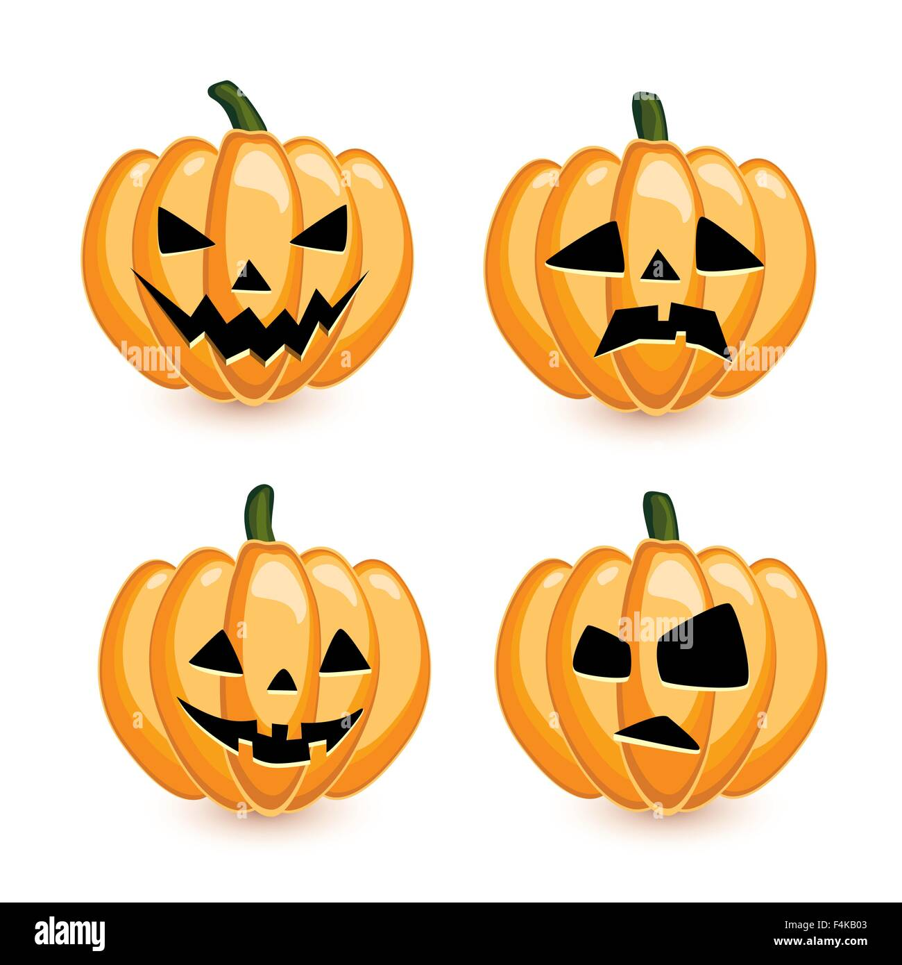 Pumpkins vector set - Stock Vector