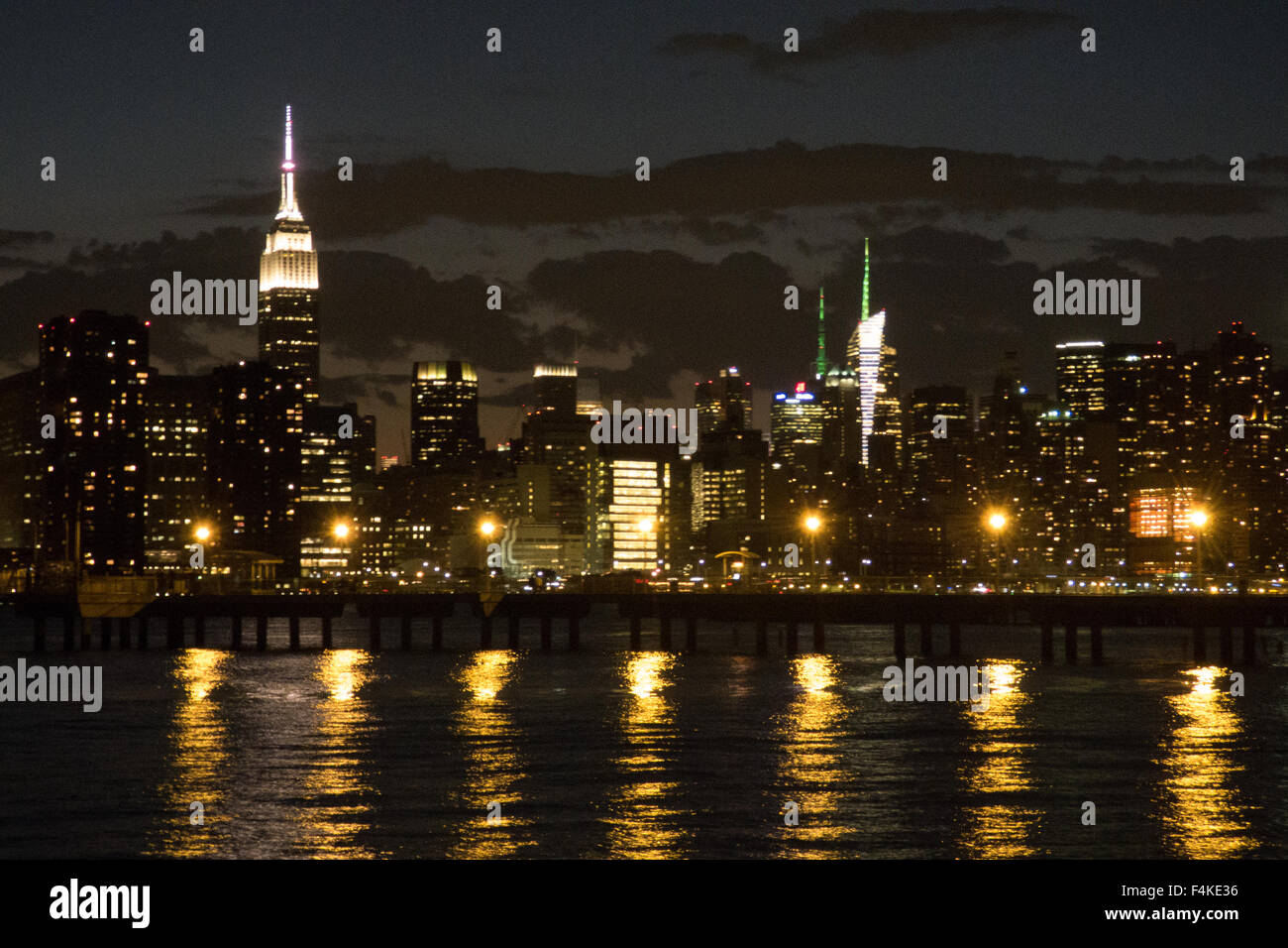 Nighttime View Of The New York City Skyline From Brooklyn Ny Photo
