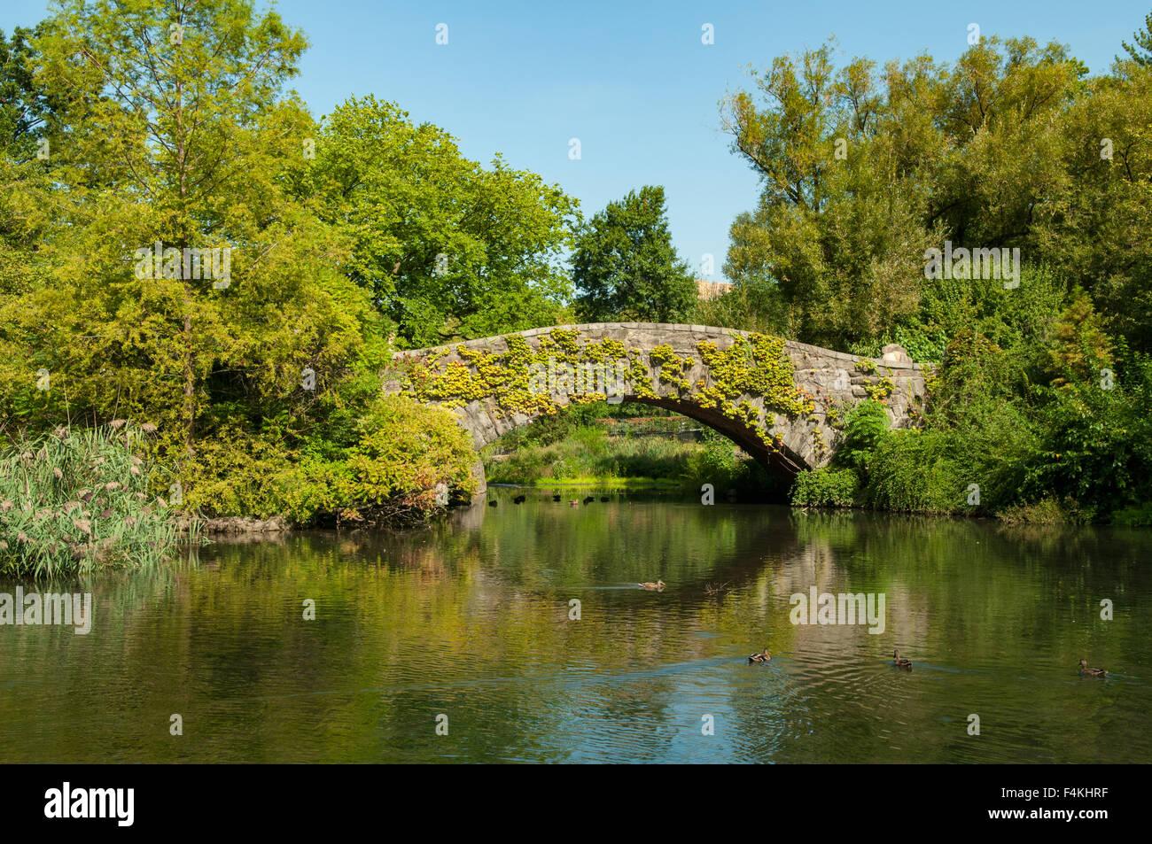 Gapstow Bridge, Central Park, New York, USA - Stock Image