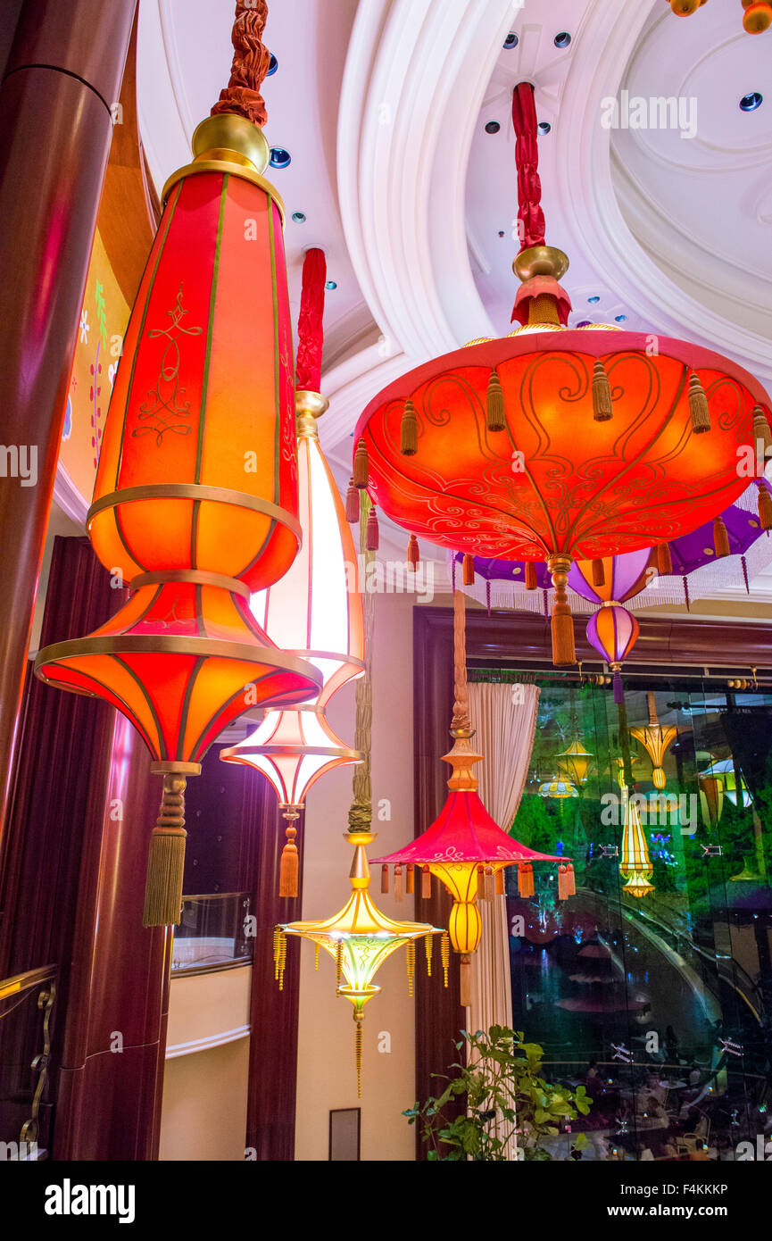 The Parasol Down Bar At The Wynn Hotel And Casino In Las Vegas Stock