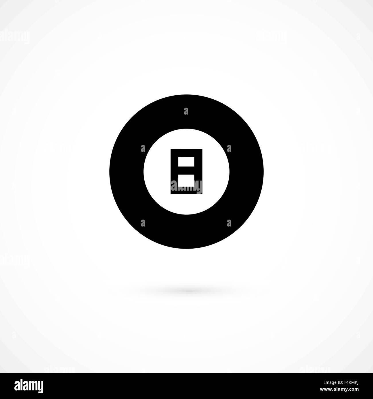 Billiard icon isolated on white background - Stock Image