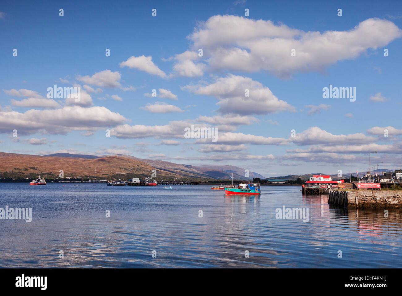 Loch Linnhe, Fort William, Highland, Scotland, UK - Stock Image