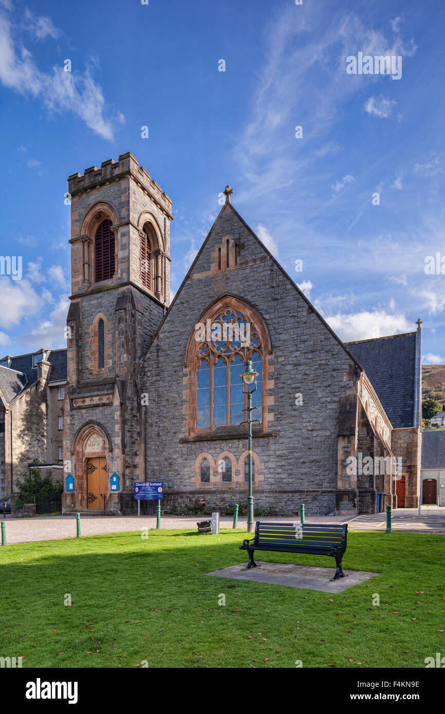 Duncansburgh MacIntosh Parish Church of the Church of Scotland in Fort William, Highland Region, Scotland. Stock Photo