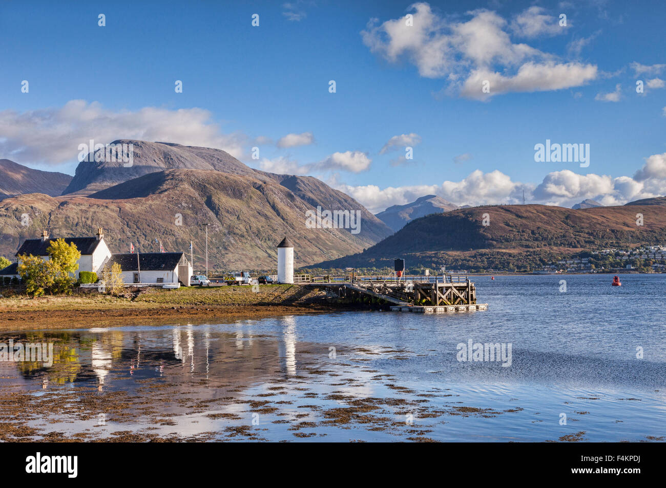 Corpach and Ben Nevis, Fort William, Highland, Scotland, UK - Stock Image