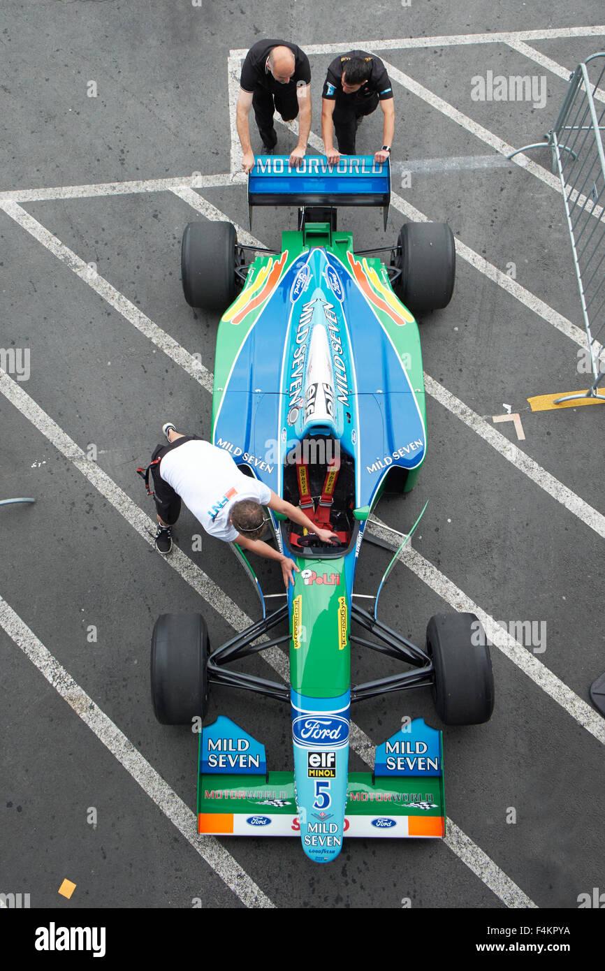 Ford Benetton B194,1994,Michael Schumacher, Historic Formula One Championship, 42.AvD-Oldtimer Grand Prix 2014 Nürburgring - Stock Image