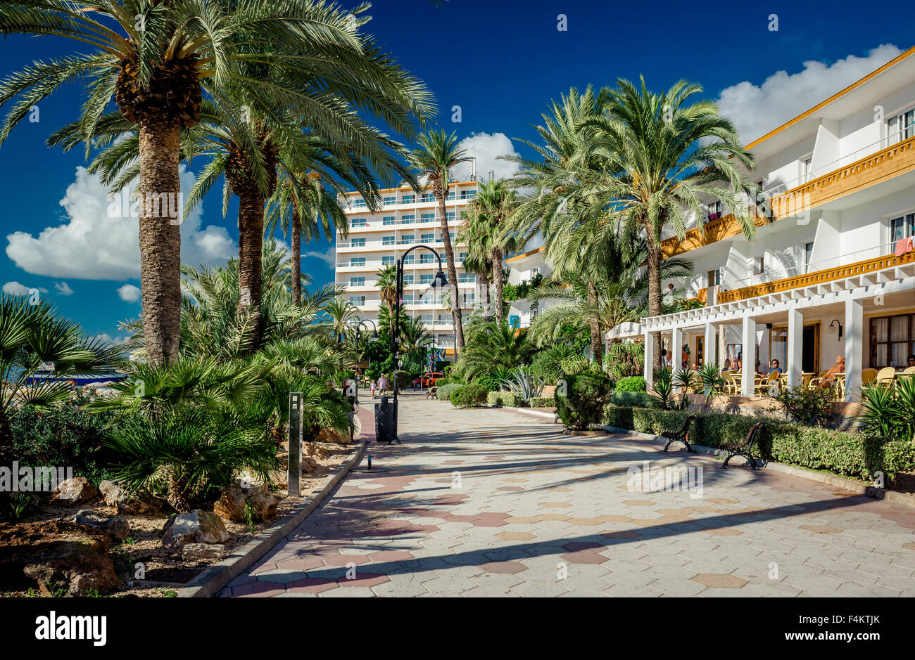 View of Ibiza seafront - Stock Image