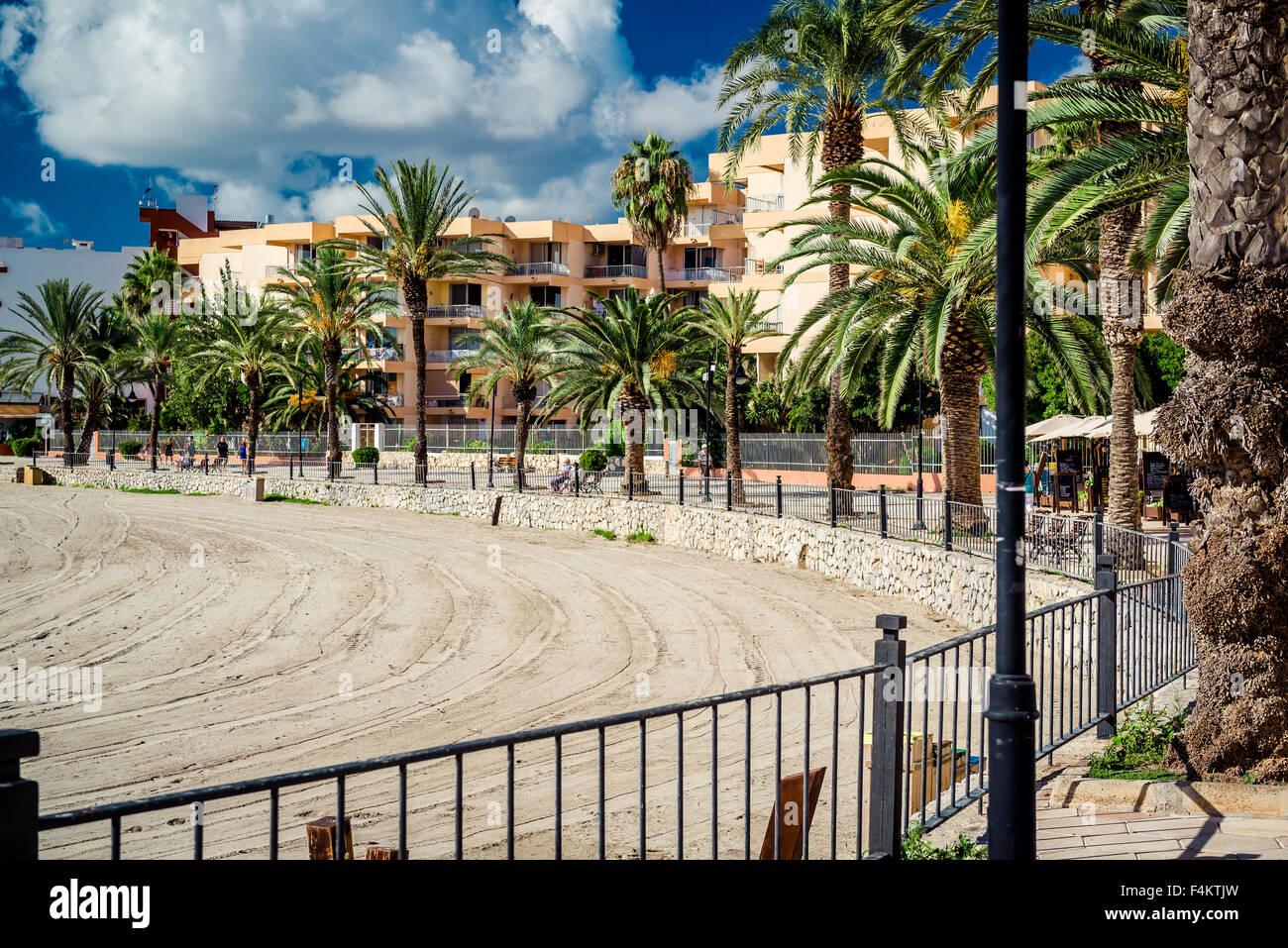 Ibiza seafront. Spain Stock Photo