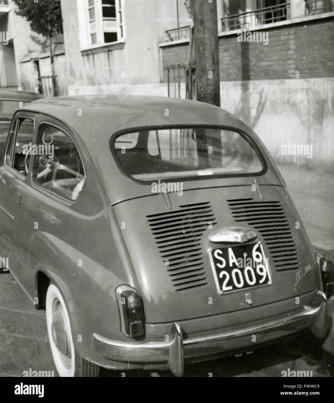 A FIAT 600 car, Italy - Stock Image