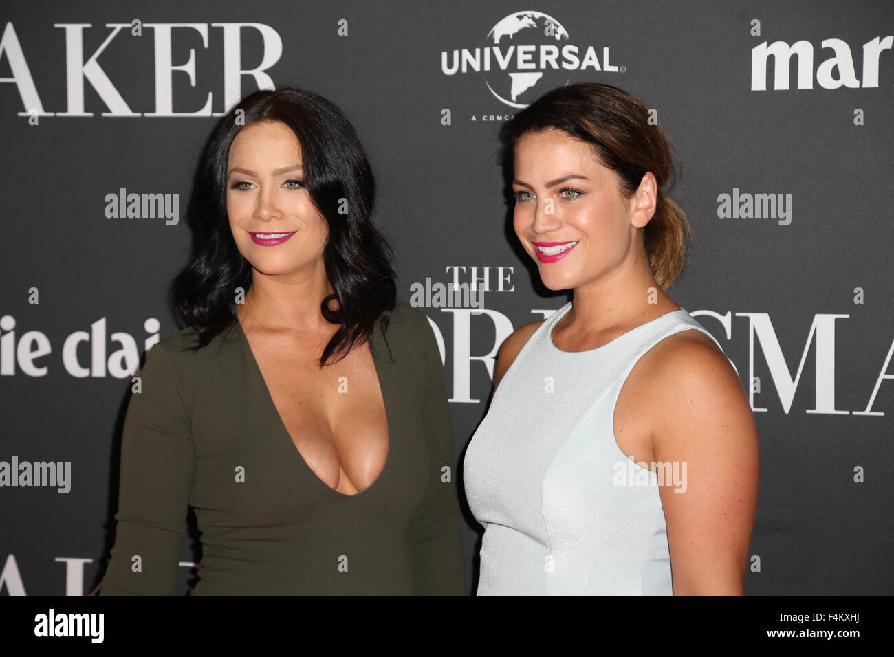 Sydney Australia 20 October 2015 Pictured The Block Twins Alisa And Lysandra Fraser Cast Members And Celebrities Walked The Red Carpet To Celebrate The Release Of The New Comedy Drama The Dressmaker At