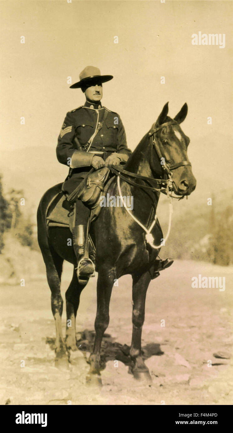 Canadian Mounted Police - Stock Image