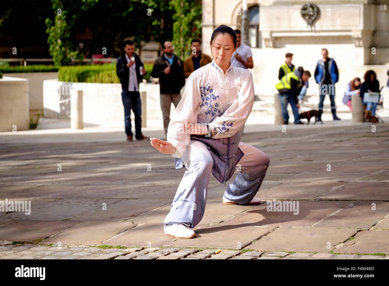 Tai Chi demonstration Preston - Stock Image