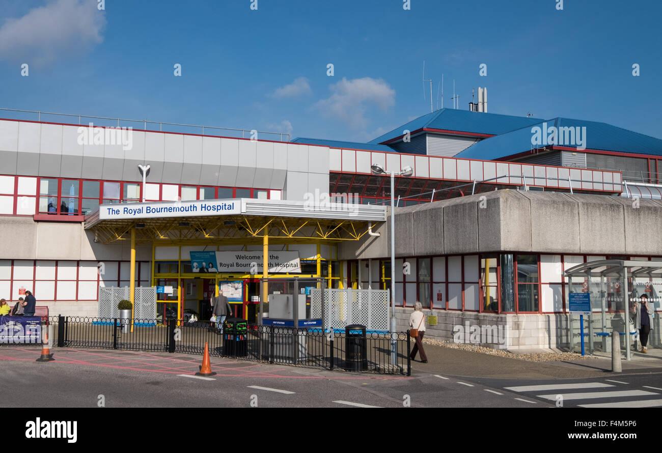 Royal Bournemouth Hospital, Bournemouth, Dorset, UK - Stock Image