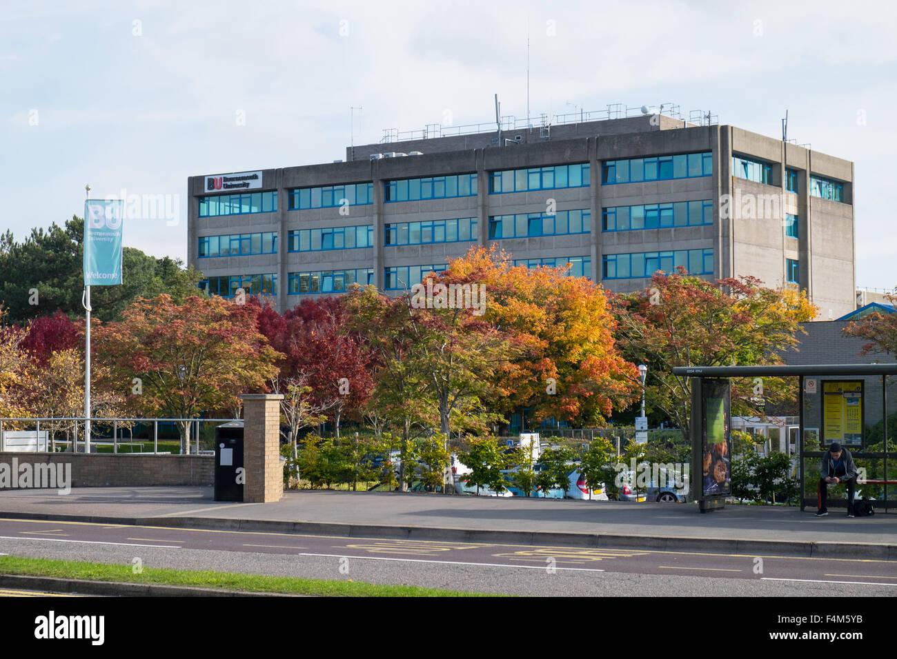 Exterior of Bournemouth University, Dorset, UK - Stock Image