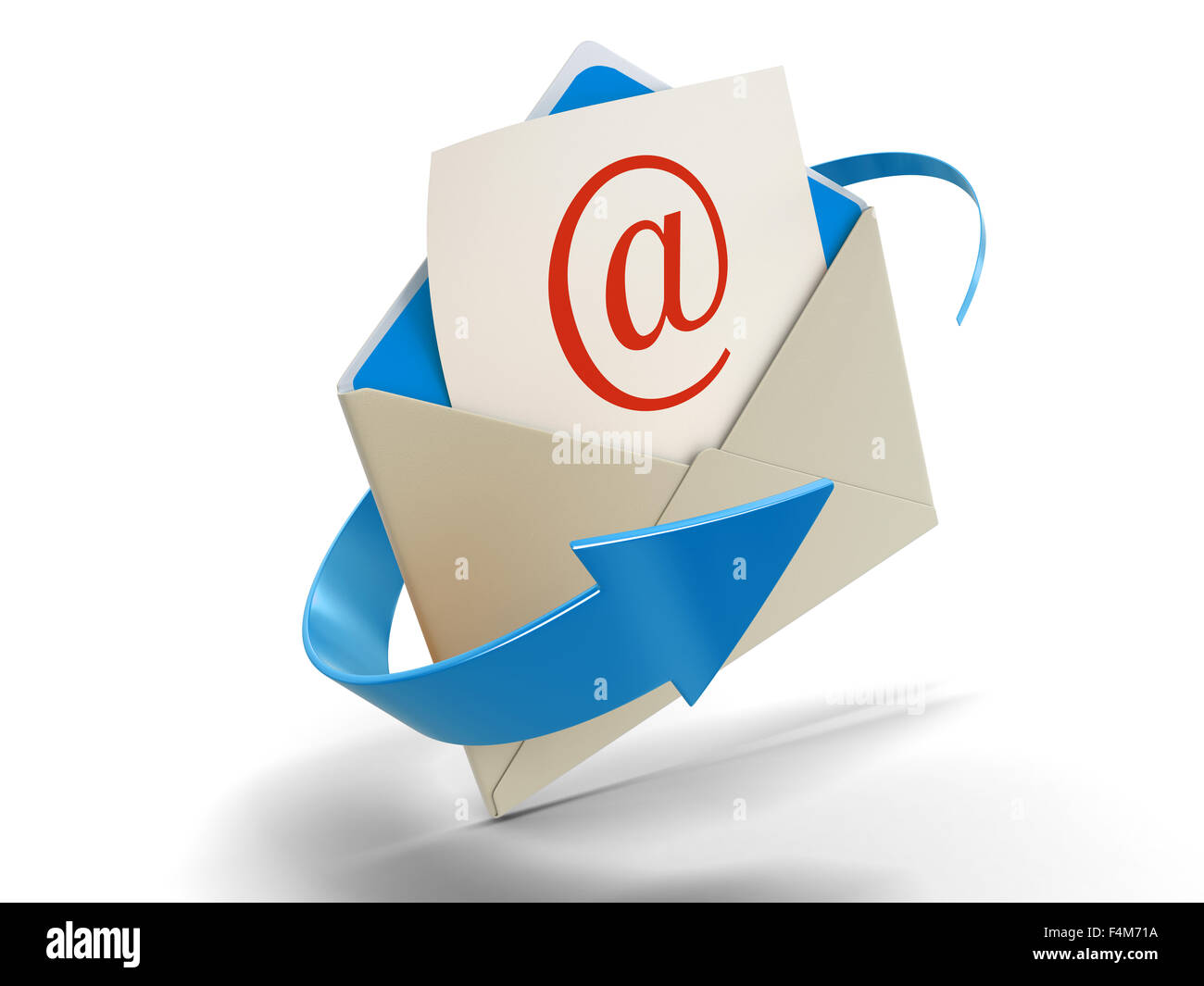 Letter E-mail (clipping path included) - Stock Image