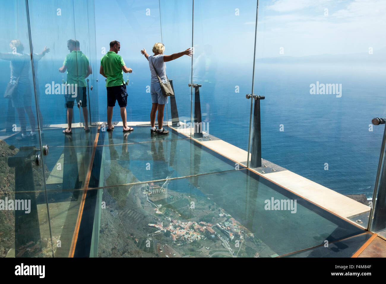 The Mirador De Abrante With Its Glass Floor Projecting Out From Clifftop Above Agulo