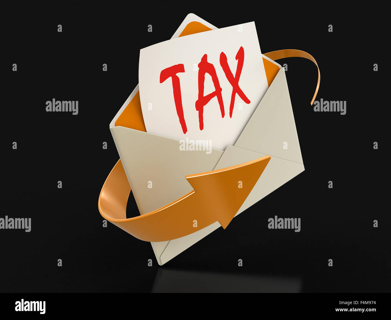 Letter TAX (clipping path included) - Stock Image