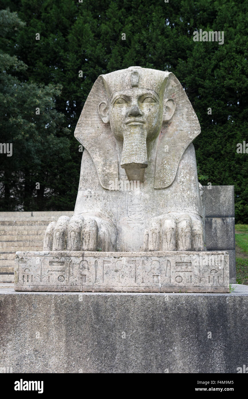 Egyptian sphinx in Crystal Palace Park, London. Stock Photo