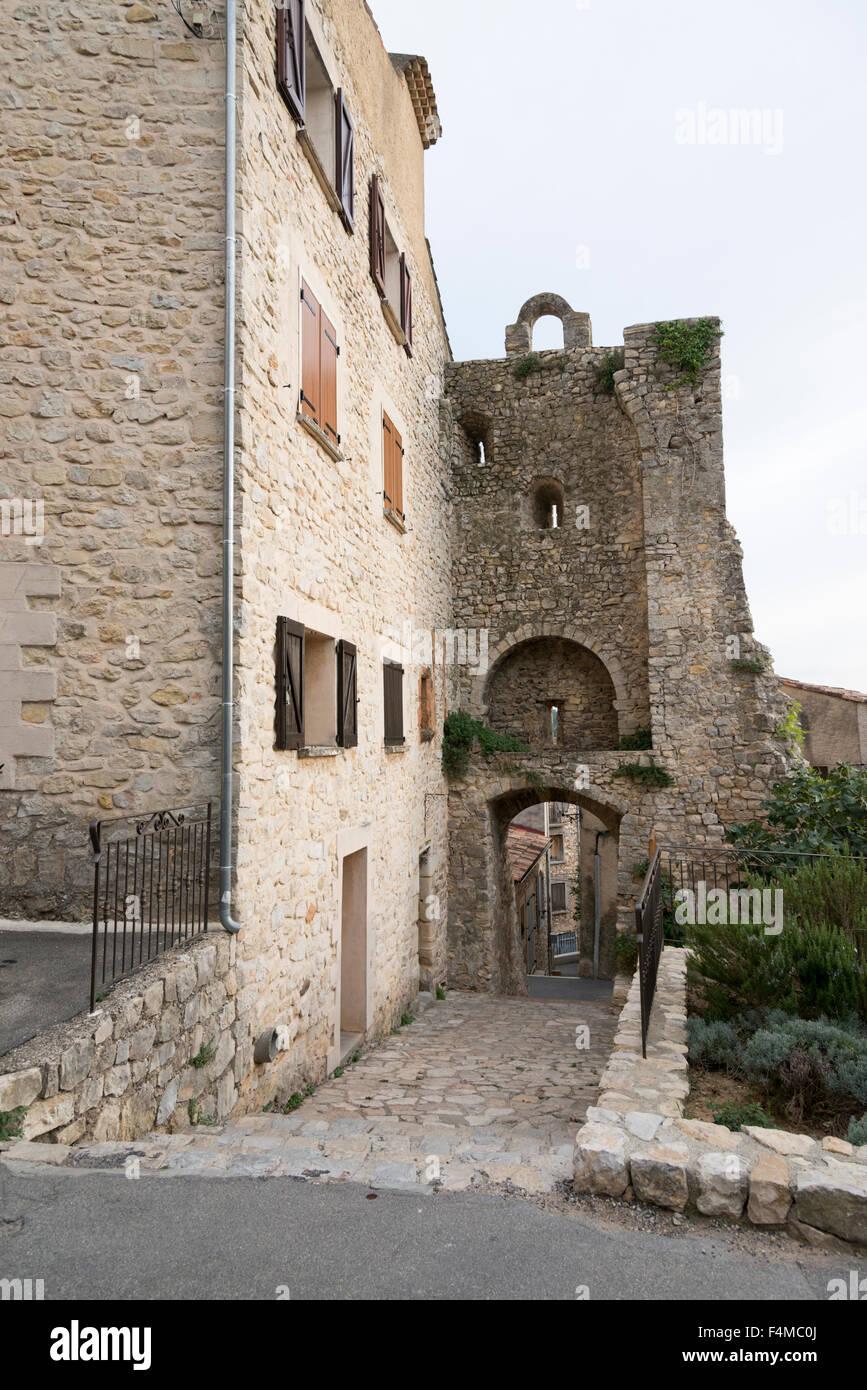 The Chateau des Templiers Greoux Les Bains Provence France - Stock Image
