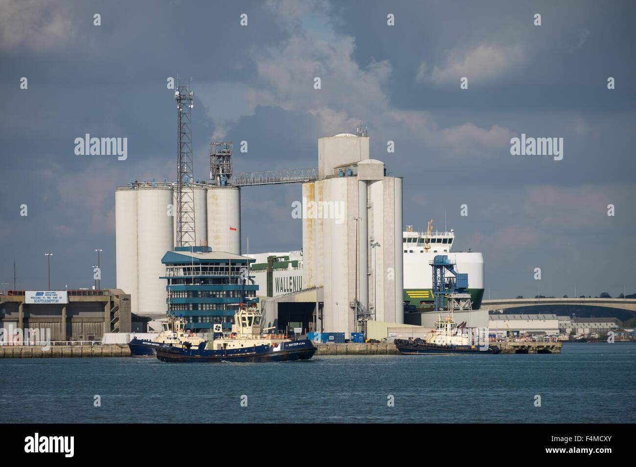 Dock Head in Southampton Docks, Southampton, Hampshire, UK - Stock Image