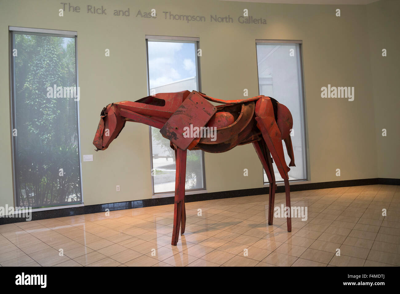 Modern Art Horse Metal Sculpture Stock Photo Alamy