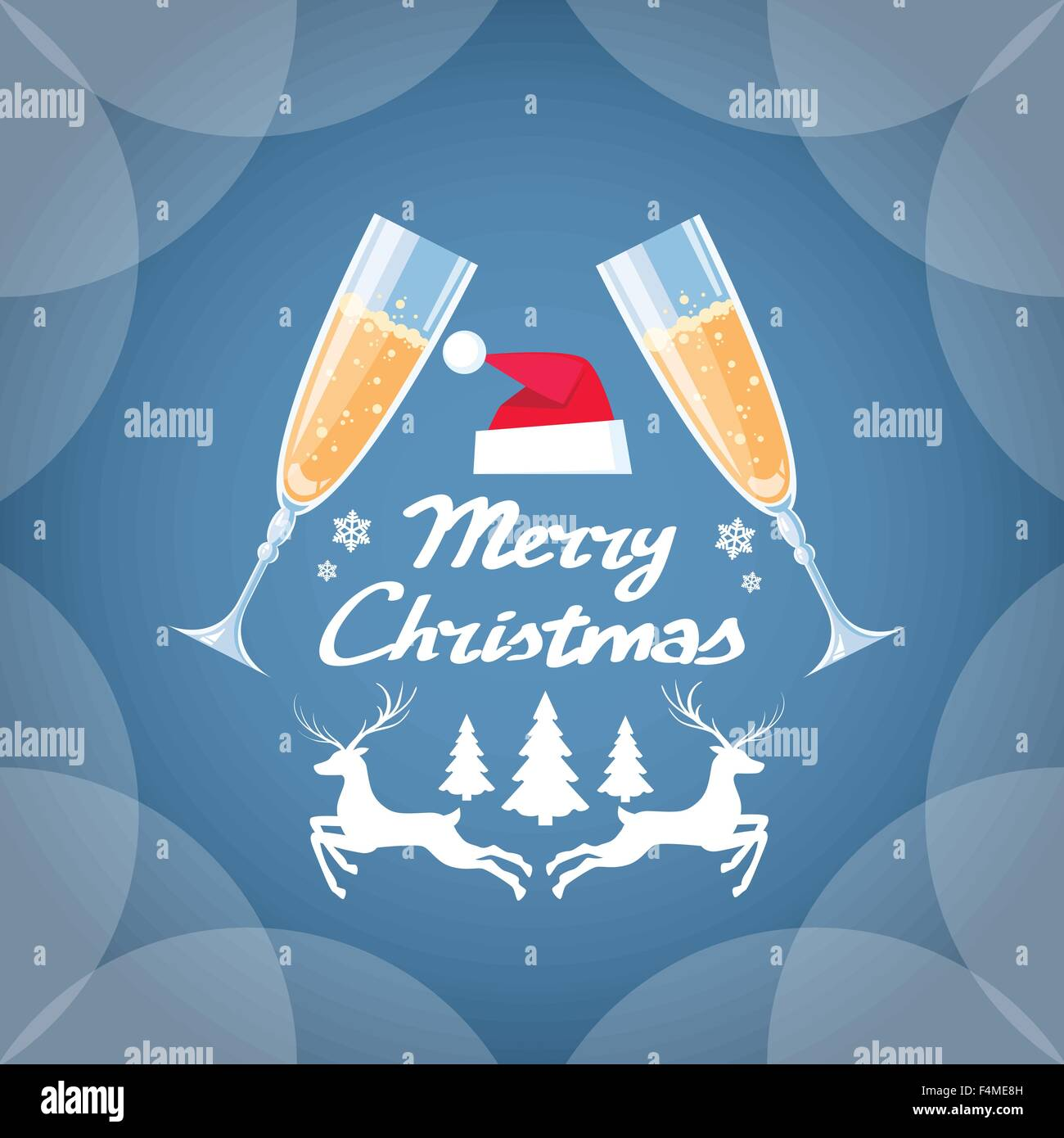 greeting invitation card two glasses champagne toast happy new year merry christmas