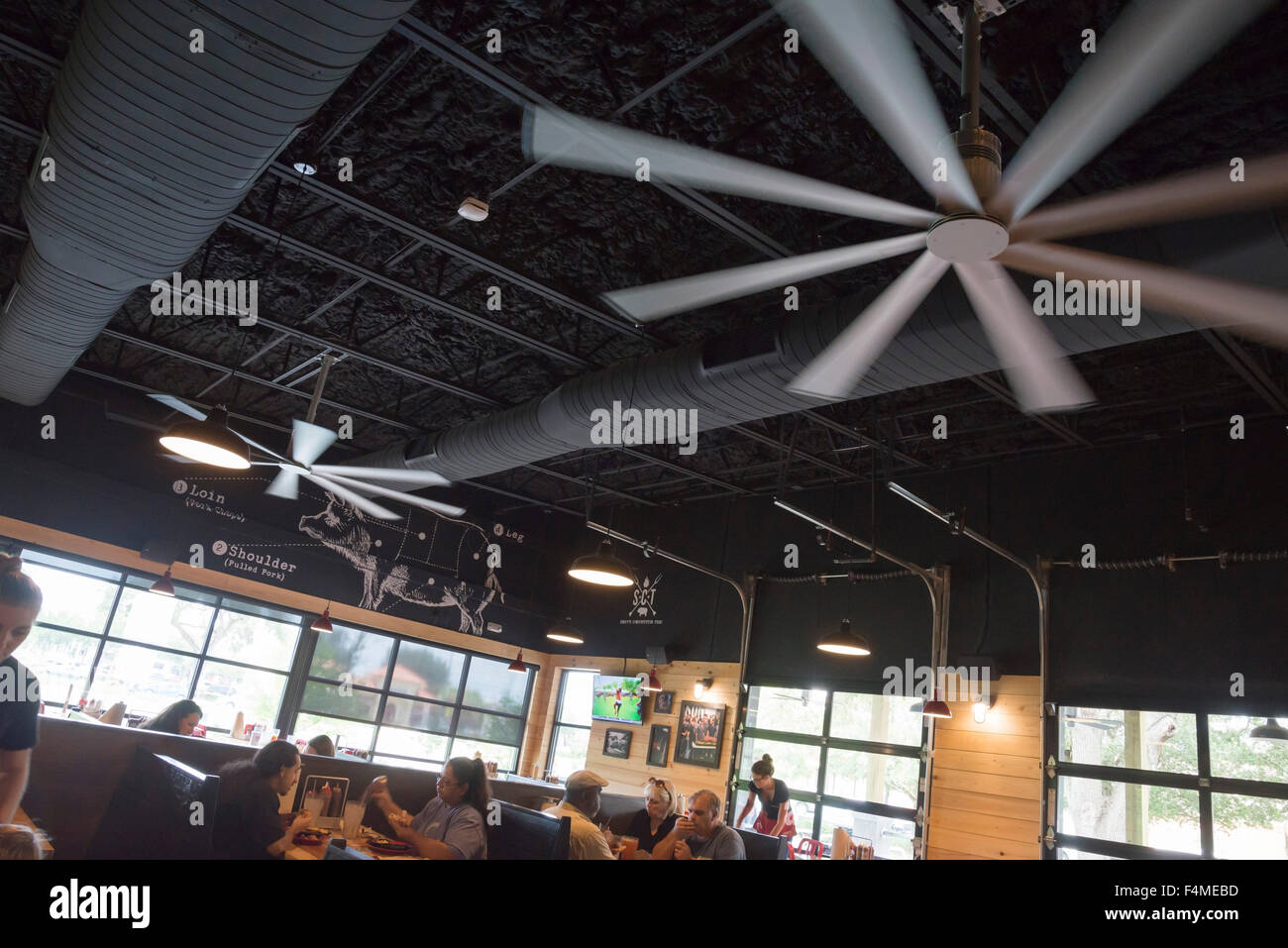 Brand new open air interior of sonnys bbq restaurant sports stock brand new open air interior of sonnys bbq restaurant sports humongous industrial strength and sized ceiling fans mozeypictures Images