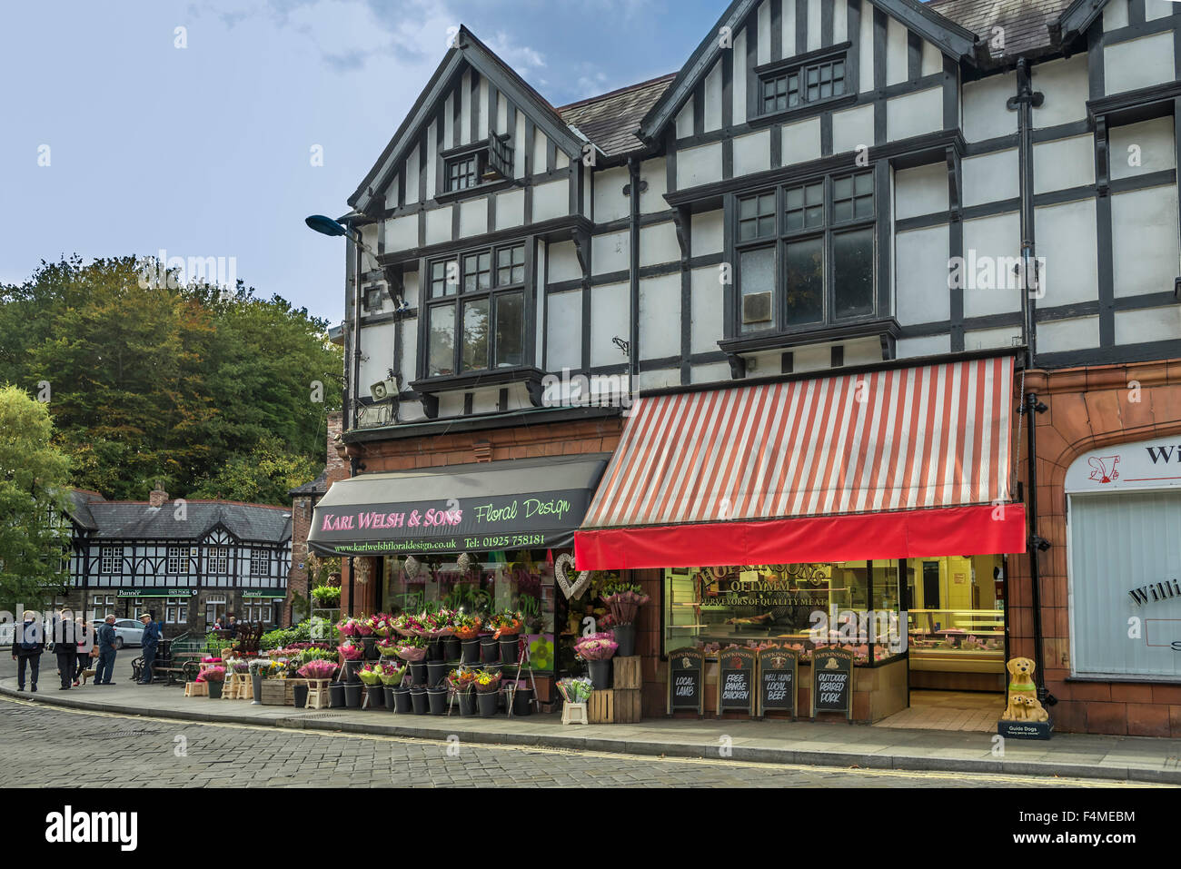 Shops in Lymm near Warrington. Cheshire North West England. - Stock Image