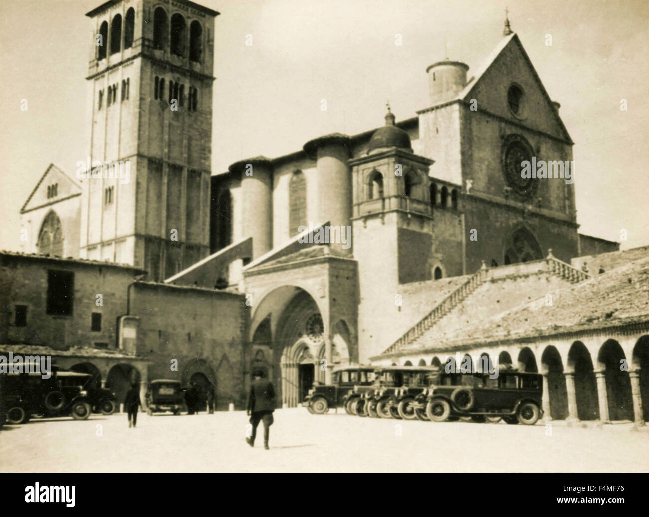 Abbey military occupied, Italy - Stock Image