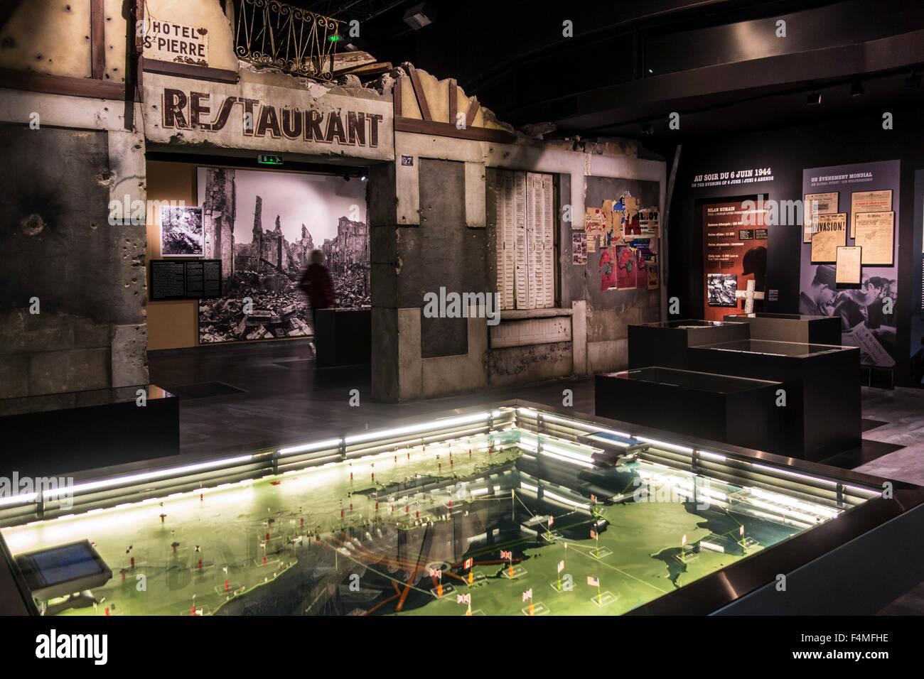 Interior Of The Mémorial De Caen, Museum And War Memorial In Caen,  Normandy, France