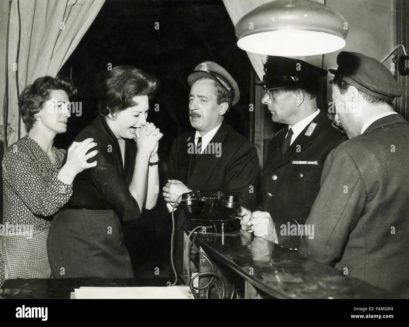 Betty Foa and Nino Taranto in the movie 'Italia Piccola' - Stock Image