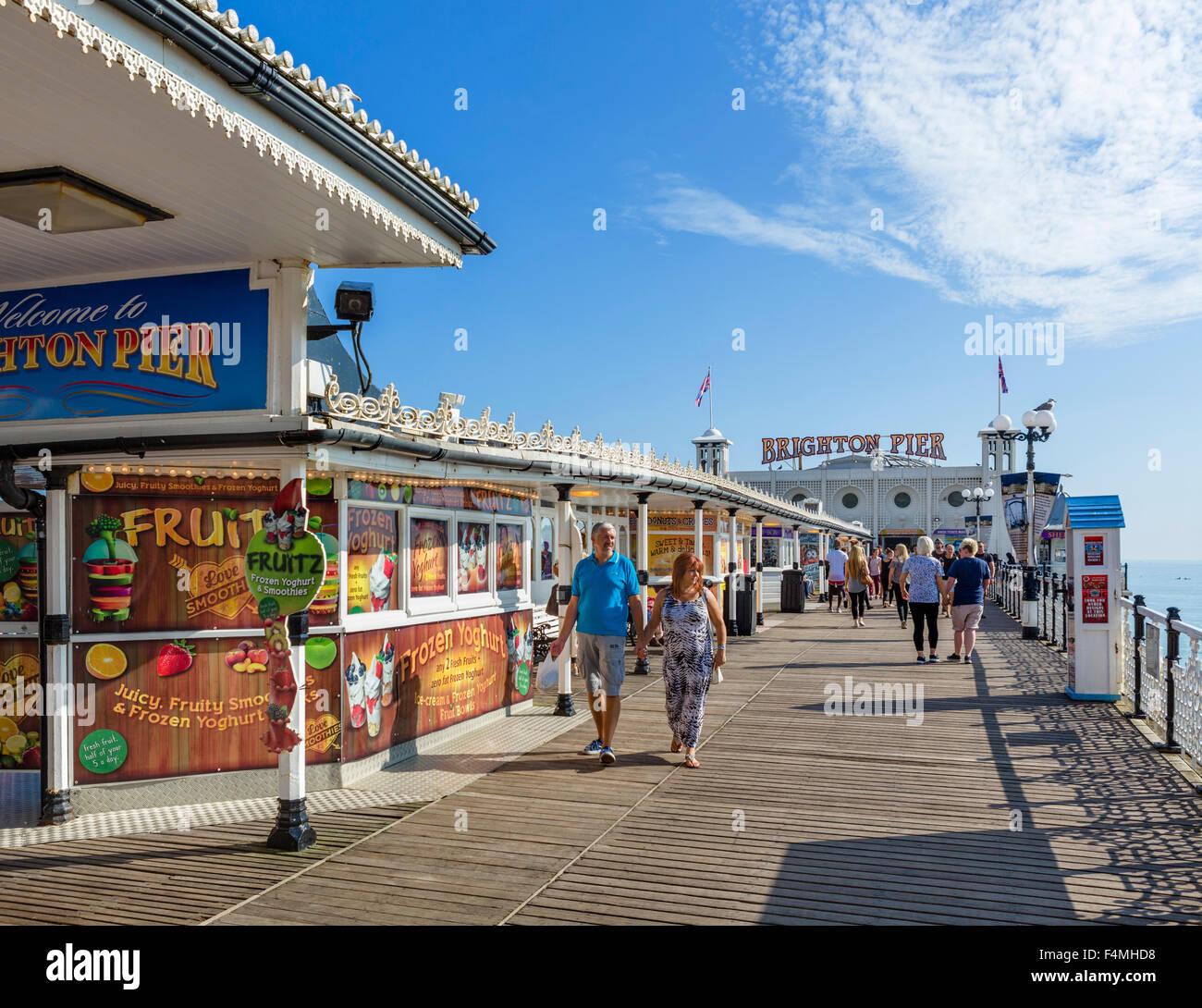 Brighton Pier, Brighton, East Sussex, England, UK - Stock Image