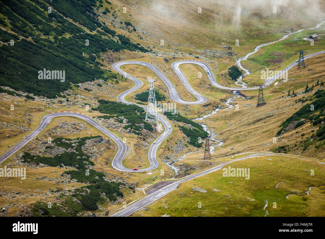 Transfagarasan Road in Romania region of Transilvania Stock Photo