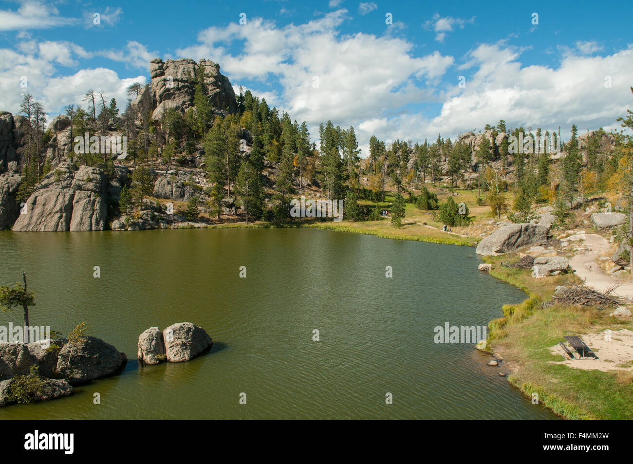 Sylvan Lake, Custer State Park, South Dakota, USA - Stock Image